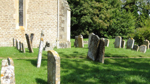 Gravestones in All Saints'